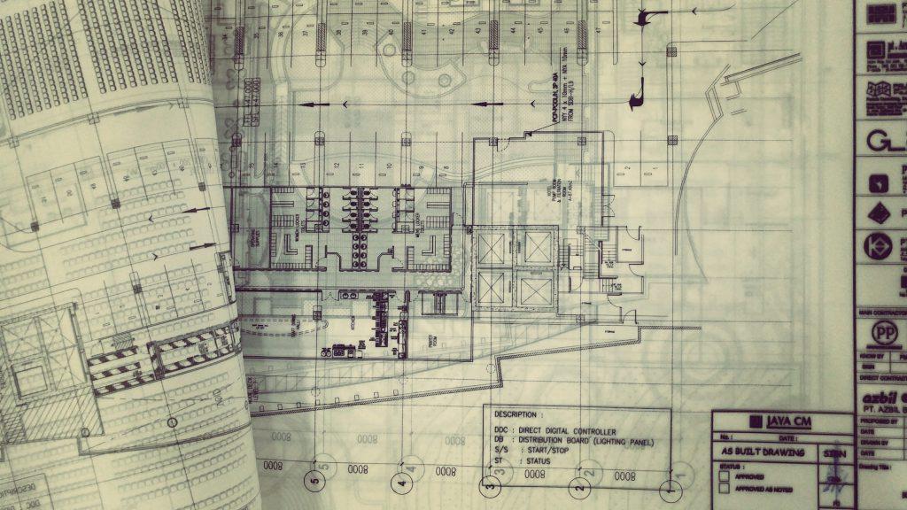 Plan eines Gebäudes