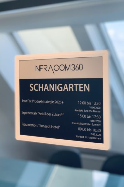 Digitale Raumbeschriftung - Room Signage