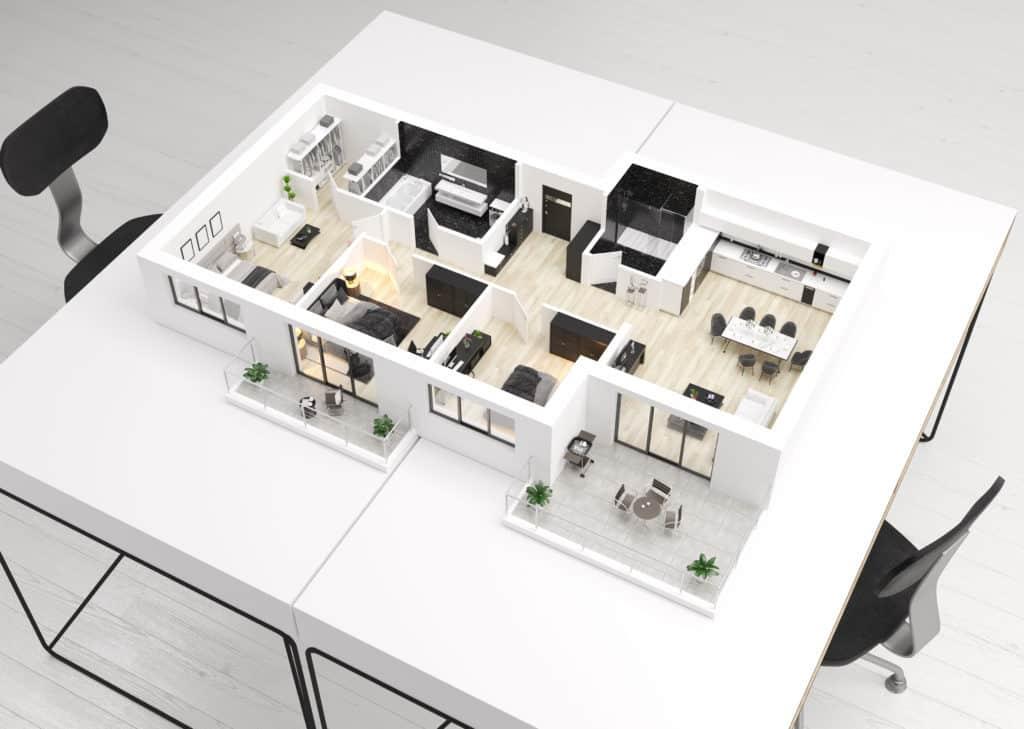 Bauliche Unterstützung - Innenarchitektur und Design